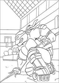 raphael with a robot in ninja turtles coloring page superheroes