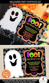 halloween invitation halloween party invitation ghost invite