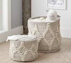 Pottery Barn Baskets With Liners Kids U0026 Baby Storage Baskets U0026 Hampers Pottery Barn Kids