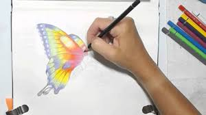 pencil for painting painting a watercolor pencils butterfly by dion