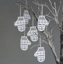 Making Decorations For Christmas Tree by Diy Accessory Snowflake Ornaments Mitten Christmas Tree Decorations