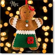 diy felt gingerbread ornaments free pattern there s a mister and