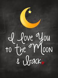i you to the moon back free printable nursery wall