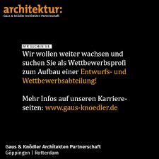stellenmarkt architektur stellenangebot gaus knödler architekten aufbau einer