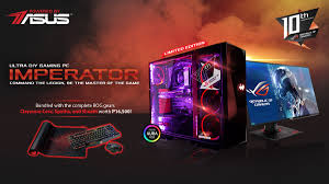 asus rog announces the rog imperator ultra gaming diy pc