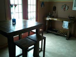 pub style dining table diy with wine rack leaf gunfodder com
