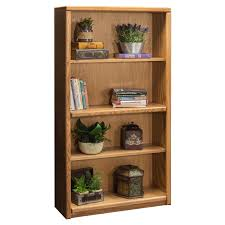 Home Office Bookcase A U0026 E Solid Oak Britannia Wood Bookcase Hayneedle