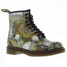 womens boots george dr martens 1460 8 eyelet george and backhand multi womens