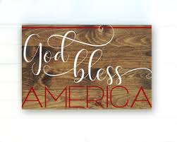 4th of july home decor god bless american 4th of july sign 4th of july decorations