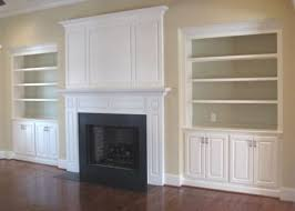 Bookshelf Around Fireplace Built In Book Cases And Cabinets Around A Gas Fireplace And Tv
