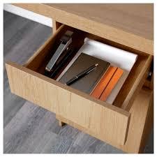 Oak Desk Type Malm Desk Oak Veneer 140x65 Cm Ikea