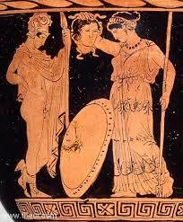 Ancient Greek Vase Painting Perseus Athena Head Of Medusa Ancient Greek Vase Painting