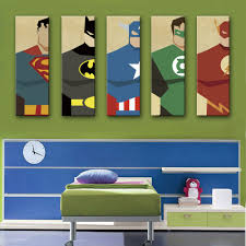 Home Decor Canvas Art Free Shipping E Home Stretched Canvas Art Super Hero Decoration