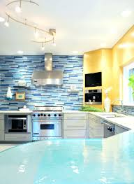 light blue kitchen backsplash kitchen light blue tile backsplash kitchen astounding and yellow