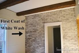 Fireplace Brick Stain by How To White Wash Brick Bathroom Update Beneath My Heart