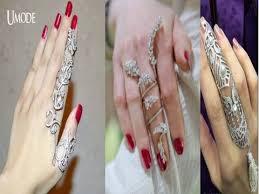 long rings design images Unique designer finger rings gold long finger ring jpg