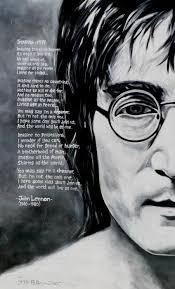 motivational wallpaper on john lennon sketch with lyrics of