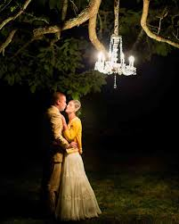 Hanging Tree Lights by Outdoor Wedding Lighting Ideas From Real Celebrations Martha