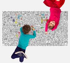 giant xxl coloring poster keith haring