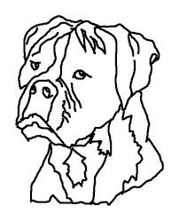 boxer dog ugly face colouring page happy colouring