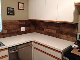 wood kitchen backsplash diy kitchen backsplash using pallet wood minwax special walnut