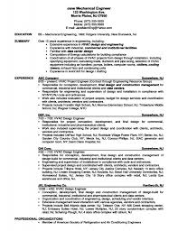Mechanical Engineer Resume Sample Mechanical Engineering Resume Template Resume Format Download Pdf