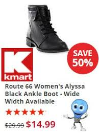 kmart womens boots kmart today only 50 route 66 s alyssa black ankle