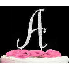 z cake topper buy large silver covered vintage style monogram cake