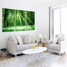 3 panel abstract landscape printed canvas art green tree canvas