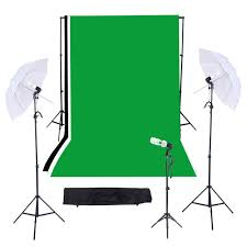 triple light bulb socket photography studio triple lighting kit with muslins backdrops light