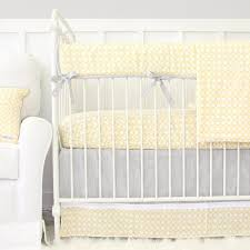Grey And Yellow Crib Bedding Gender Neutral Crib Bedding Caden