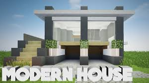 building my first modern house in minecraft realistic modern