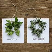 herb wreath herb wreath diy christmas cards merry mailing bob vila