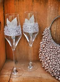 great gatsby 2 wedding champagne glasses toasting flutes for