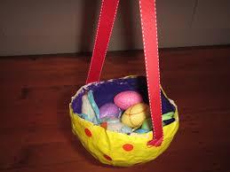 paper mache easter baskets crafty paper mache easter egg basket