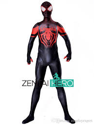 zentaihero 2017 ultimate miles morales spiderman costume 3d