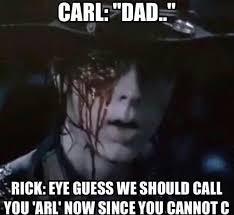 Rick Carl Memes - 35 funny walking dead memes that make a zombie apocalypse worth it