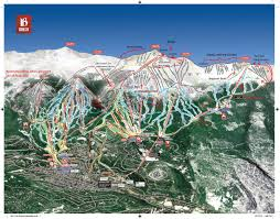 Beaver Creek Colorado Map by Trail Map Guides Skiing