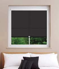 dim out black perfect fit roller blind for upvc windows u0026 doors