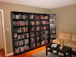 captivating bookshelf living room from wood bookcases with glass