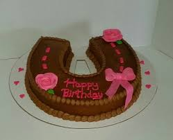cowgirl horseshoe birthday cake cakes by cakes by