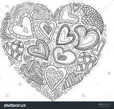 design coloring book vector heart pattern coloring book ethnic stock vector 397025389
