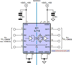 digital isolation up to 100 mbits circuit diagram