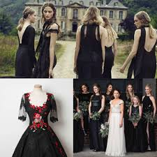 black and bridesmaid dresses top trending color themes for bridesmaid dresses 2016 and 2017