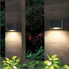 Outdoor Wall Sconce Up Down Lighting Lighting 105055bk Eclipse 1 Light Led Outdoor Wall Sconce In Athracite