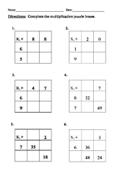 division for grade 3 3 multiplication division puzzle boxes 4 worksheets everday math
