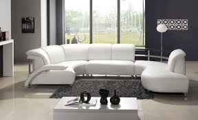 Leather Upholstery Sofa Furniture White Modern Living Room Furniture With White Leather