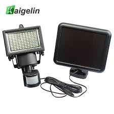 led solar security light kaigelin 100 led solar flood light pir motion sensor waterproof