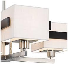 Possini Euro Design Chandelier Possini Euro Design Mirrored Grids Metal And Wood Chandelier
