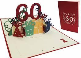 pop up birthday card 60th birthday red lin pop up 3d
